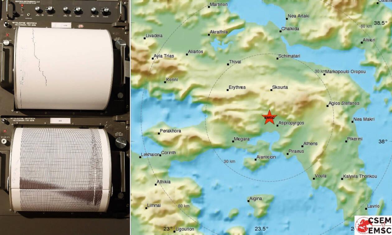 Σεισμός Αθήνα: Έτσι κατέγραψαν οι σεισμογράφοι τα 4,2 Ρίχτερ (pics)