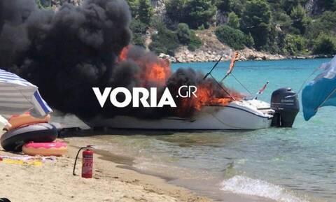 Χαλκιδική: Στο νοσοκομείο παραμένουν μητέρα και κόρη μετά την έκρηξη σε ταχύπλοο
