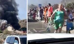 Πανικός από πυρκαγιά σε υδάτινο πάρκο - Τουρίστες έτρεχαν τρομοκρατημένοι να σωθούν