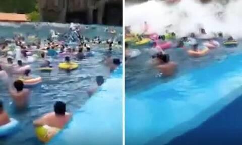 Βίντεο - ΣΟΚ: Τσουνάμι σε... πισίνα - 44 τραυματίες