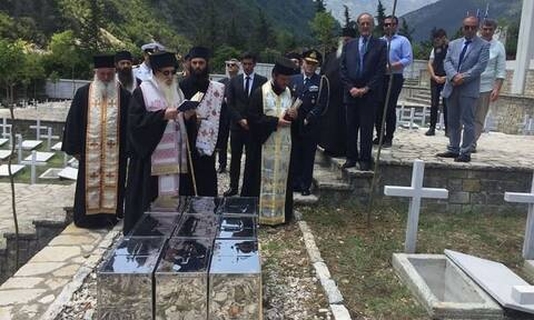Ενταφιάστηκαν τα οστά 85 Ελλήνων πεσόντων στην Αλβανία κατά τον Ελληνο-Ιταλικό πόλεμο