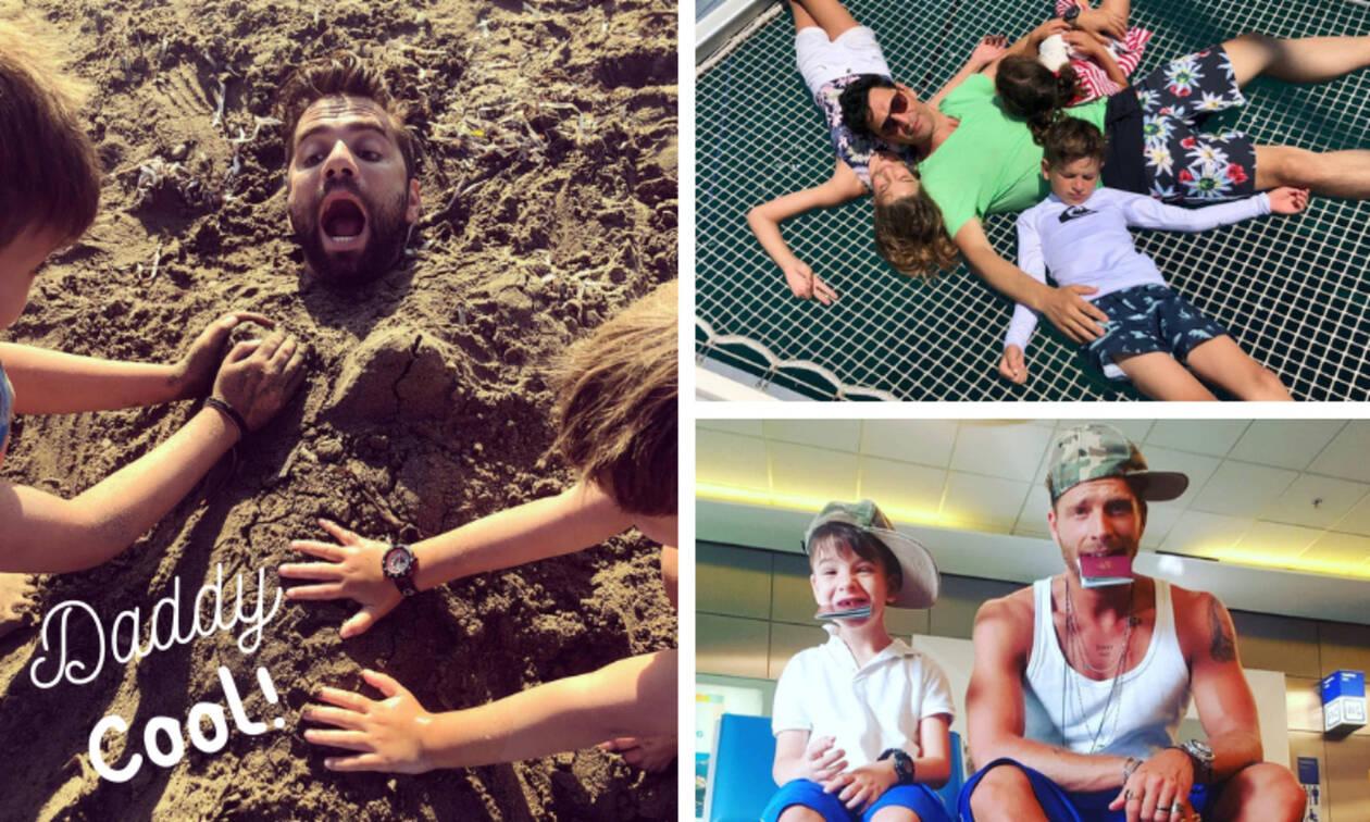 840818d8851 20 διάσημοι Έλληνες μπαμπάδες με τα παιδιά τους (pics) - Newsbomb
