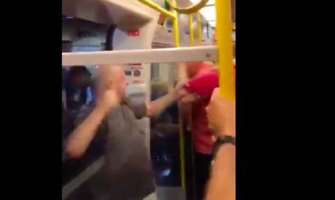 Χαμός στο αγγλικό μετρό μεταξύ οπαδών της Λίβερπουλ και της Μάντσεστερ Σίτι (video)