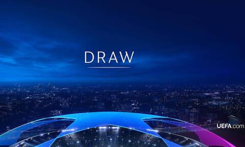 Live Chat η κλήρωση των πλέι οφ του Champions League