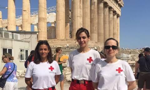 Υγειονομική κάλυψη από τον Ελληνικό Ερυθρό Σταυρό στον Ιερό Βράχο της Ακρόπολης