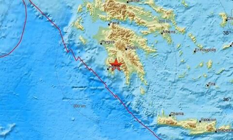 В Греции в районе Каламаты произошло землетрясение магнитудой 3,8 балла