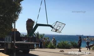 Χίος: Απομακρύνθηκε η φονική μπασκέτα (pics)