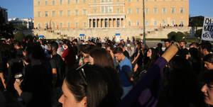 Πορείες διαμαρτυρίας για την κατάργηση του πανεπιστημιακού ασύλου (pics)