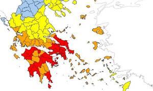 Πιο επικίνδυνη ημέρα η Κυριακή: Σε αυτές τις περιοχές υπάρχει ακραίος κίνδυνος πυρκαγιάς