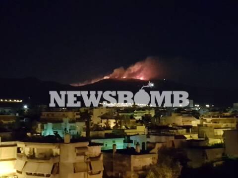 Φωτιά ΤΩΡΑ στην Αττική: Πυρκαγιά στην Παιανία - Στις φλόγες ο Υμηττός