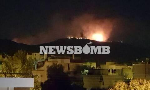 Μεγάλη φωτιά ΤΩΡΑ στον Υμηττό - Ενισχύθηκαν οι πυροσβεστικές δυνάμεις