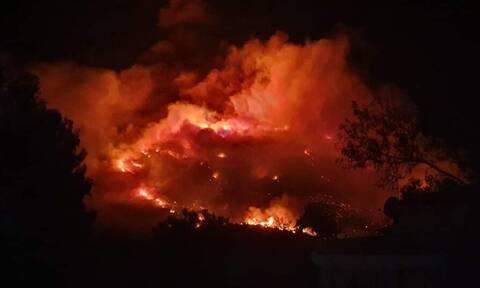 Φωτιά Υμηττός: Μάχη με το χρόνο για να μην φτάσει η φωτιά στο δάσος της Καισαριανής
