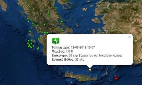 Между Критом и Санторини произошло землетрясение магнитудой 4,8 балла