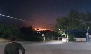 Φωτιά στη Σαμοθράκη: Ολονύχτια μάχη με τις φλόγες και τα μποφόρ