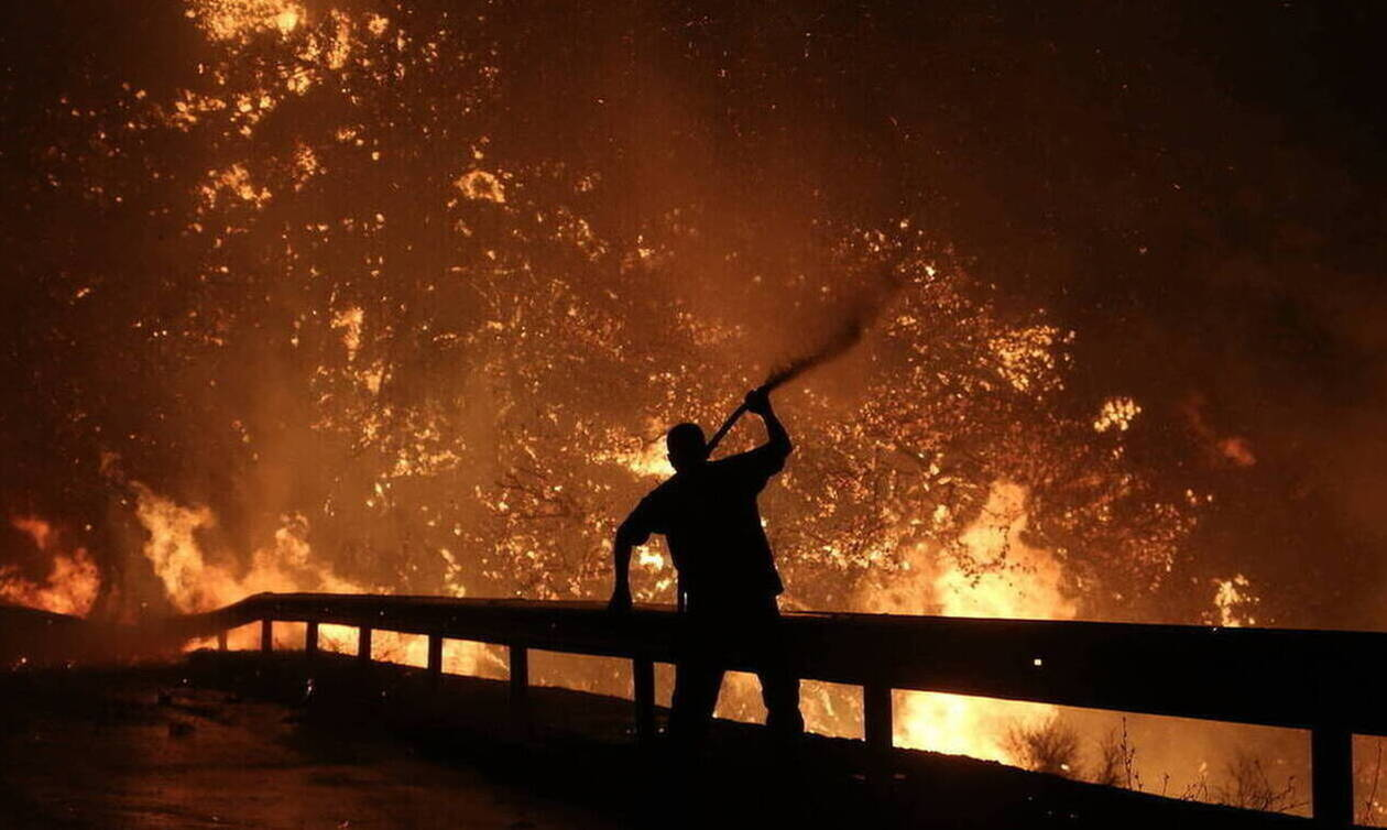 Φωτιά ΤΩΡΑ στην Εύβοια: Μεγάλη πυρκαγιά στην περιοχή Αγριλίτσα (ΧΑΡΤΗΣ)