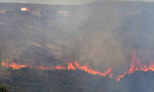 Φωτιά ΤΩΡΑ στην Εύβοια: «Πνίγονται» Φθιώτιδα και Μαγνησία - Οι καπνοί φαίνονται και από το διάστημα
