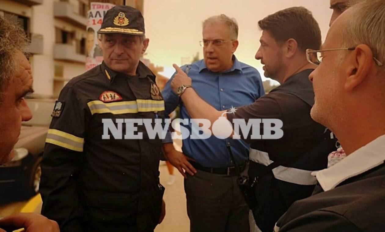 Φωτιά Εύβοια: Στο Μακρυμάλλη ο υπουργός Εσωτερικών
