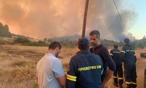 Μπακογιάννης: Νύχτα μάχης με τα μέτωπα στην Εύβοια