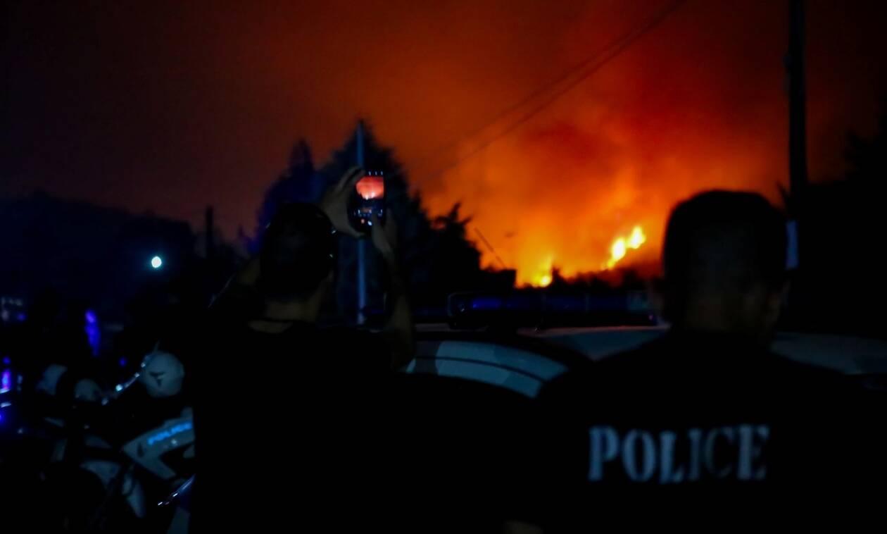 Φωτιά Εύβοια: Προσαγωγή υπόπτου για την πυρκαγιά στη βόρεια Εύβοια
