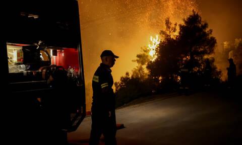 Φωτιά Εύβοια - Μπακογιάννης: Δύο τα ενεργά μέτωπα και πολλές οι αναζωπυρώσεις
