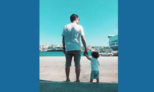 Διάσημος Έλληνας ηθοποιός ανέβασε για πρώτη φορά φωτογραφία με τον γιο του στο Instagram (pics)