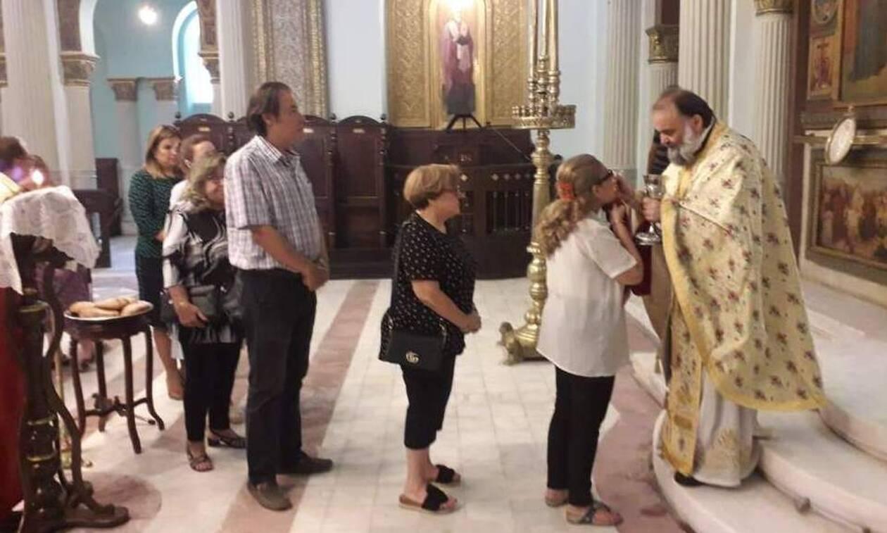 Δεκαπενταύγουστος στο Κάιρο: Η πρώτη Θεία Λειτουργία στον Ι.Ν Αγ. Κωνσταντίνου και Ελένης (pics)