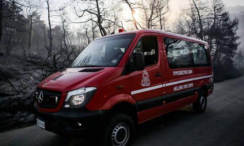 Εμπρηστής επιτέθηκε με μανία σε πυροσβέστες στον Πύργο και προκάλεσε τροχαίο (pic)