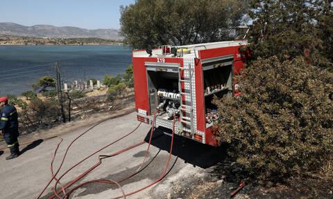 Θεσσαλονίκη: Φωτιά κοντά στο αεροδρόμιο Μακεδονία