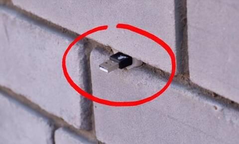 Κίνδυνος! Αν βρείτε στικάκι σε τοίχο ΜΗΝ το βγάλετε! (pics+vid)