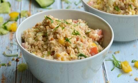 Η συνταγή της ημέρας: Σαλάτα με πλιγούρι & γλυκόξινο dressing γιαουρτιού