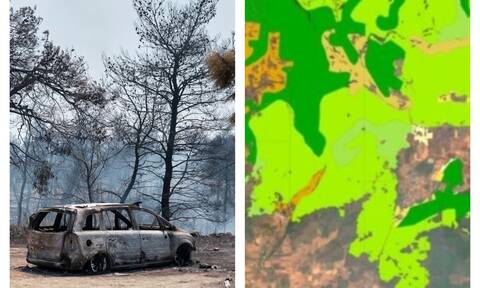 Η Εύβοια έγινε στάχτη: Ο «μαύρος» χάρτης της οικολογικής καταστροφής – Όλες οι καμένες εκτάσεις