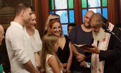 Στόκας-Ψυχίδου: Το φωτογραφικό άλμπουμ από τη βάφτιση της 9χρονης κόρης τους! (Photos)