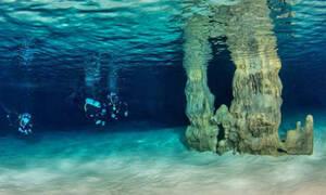Σπήλαιο των Ελεφάντων: Το «θαύμα» της φύσης που κρύβεται στο βυθό των Χανίων! (vid)