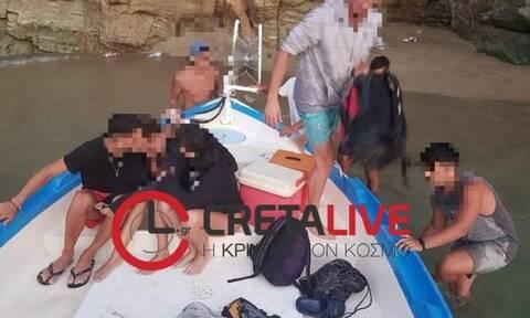 Κρήτη: Περιπέτεια για επτά 18χρονους - Τους έσωσε το Λιμενικό