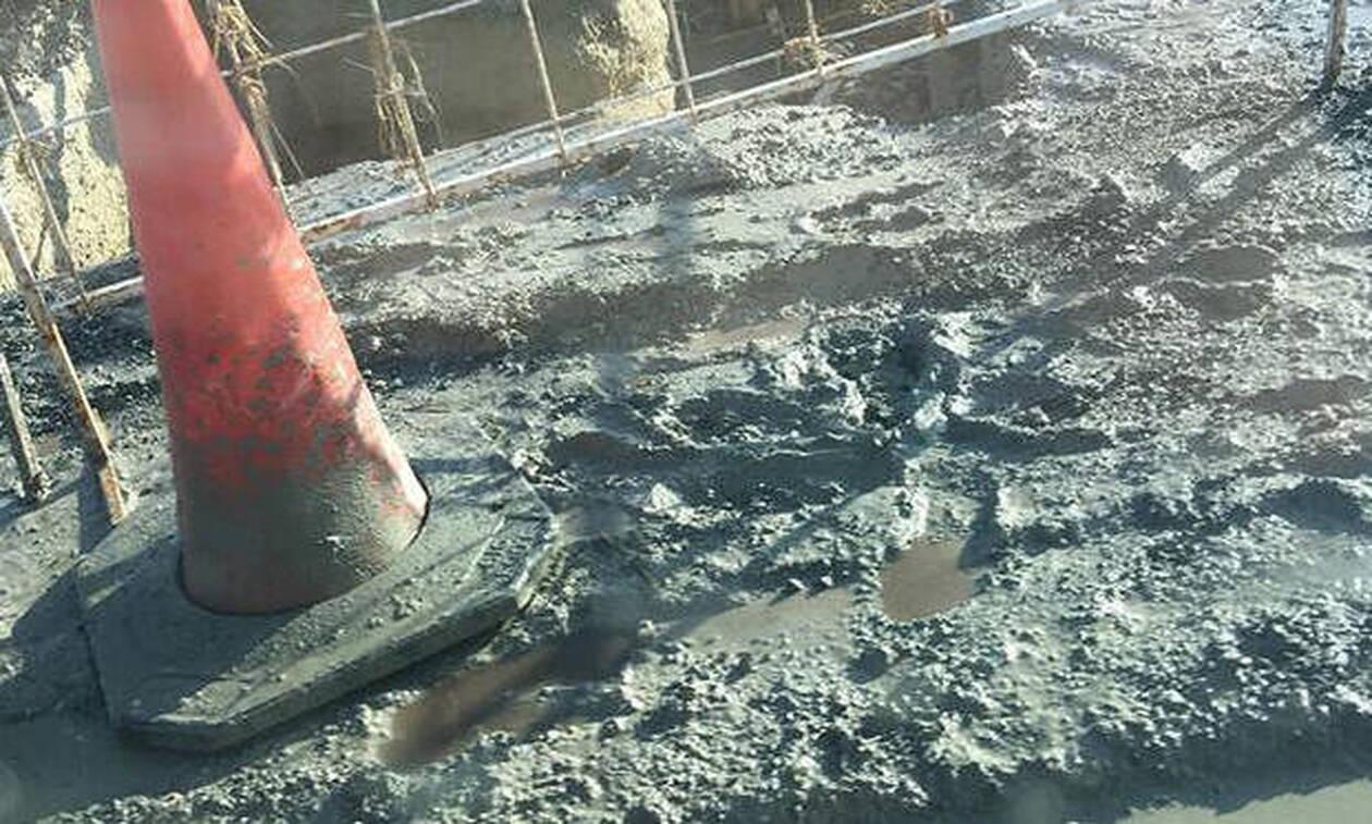 Χαμός στην Κύπρο με την κακοκαιρία: Έκλεισε δρόμος λόγω λάσπης