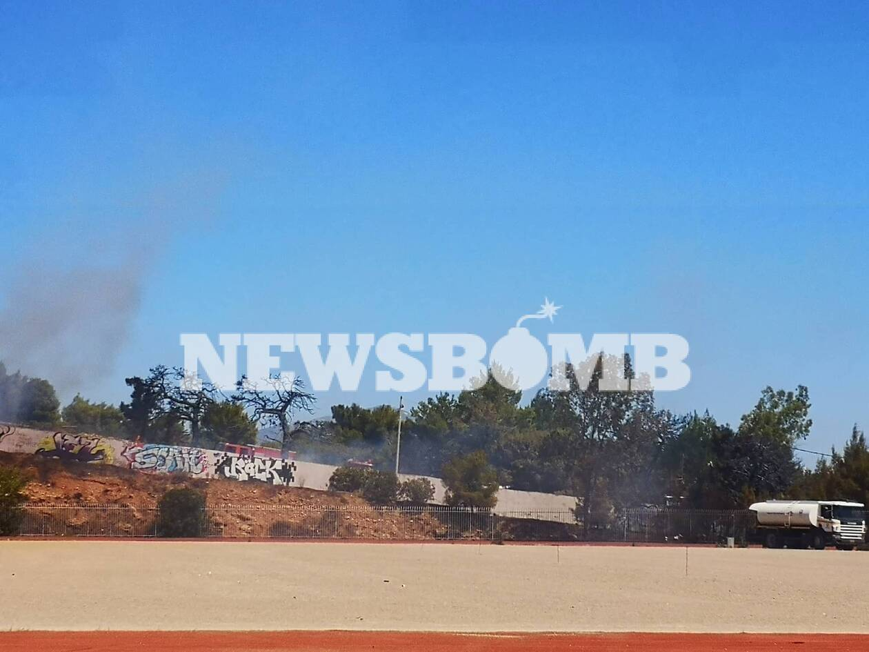 Δείτε τις πρώτες εικόνες από τη φωτιά στο Χαϊδάρι