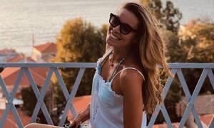 Μαριέττα Χρουσαλά: Το φωτογραφικό άλμπουμ των διακοπών της στη Χίο