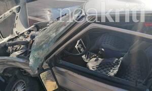 Ηράκλειο: Τροχαίο με 3 τραυματίες στην Εθνική οδό - Επέμβαση της πυροσβεστικής για απεγκλωβισμό