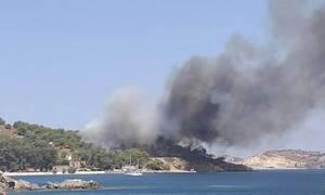 Φωτιά στη Λέρο: Κινδύνευσε ο «πνεύμονας» πρασίνου του νησιού (pics)