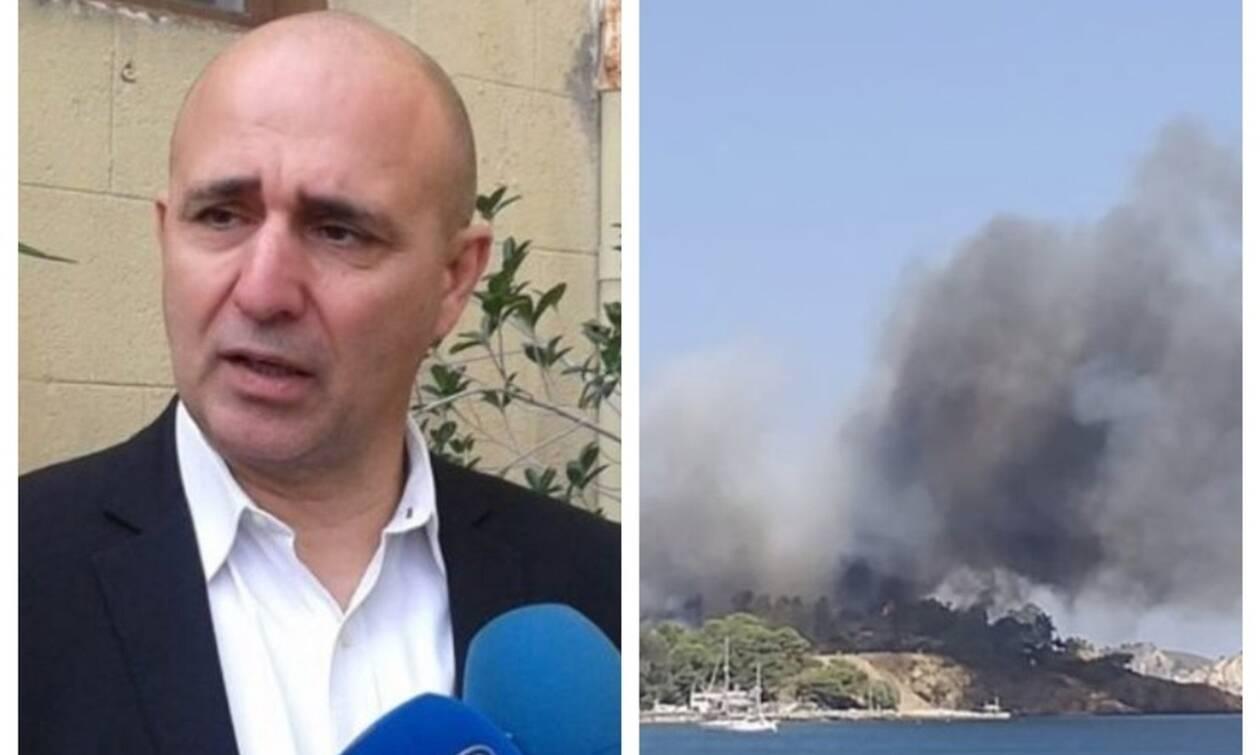 Φωτιά ΤΩΡΑ: Δήμαρχος Λέρου στο Newsbomb.gr - Δεν κινδυνεύει κόσμος