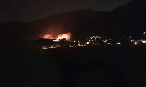 Φωτιά στον Διόνυσο: Διεκόπη η κυκλοφορία στη Λεωφόρο Διονύσου