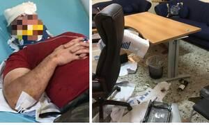 Ληστεία-θρίλερ στη Θεσσαλονίκη: Ξυλοκόπησαν τον φύλακα και τα έκαναν «γυαλιά-καρφιά» (pics)