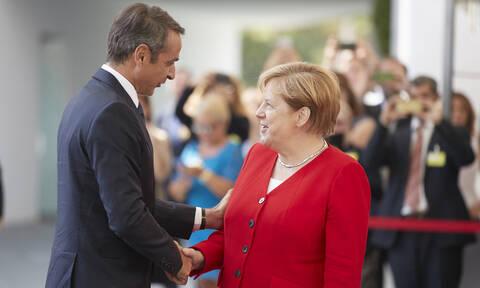 LIVE: Η συνάντηση Μητσοτάκη - Μέρκελ στο Βερολίνο