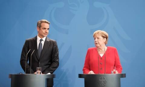 Μητσοτάκης: Πρώτα η αξιοπιστία, μετά τα πλεονάσματα - Μέρκελ: Πιο εύκολες τώρα οι δεσμεύσεις σας