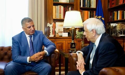 Συνάντηση Παυλόπουλου με τον νέο περιφερειάρχη Αττικής Γ. Πατούλη στο Προεδρικό μέγαρο