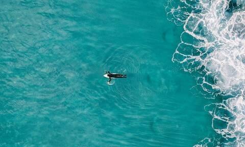 Τρόμος στις ΗΠΑ: Σέρφερ έκανε άλμα στον αέρα και προσγειώθηκε σε καρχαρία δύο μέτρων (vid)