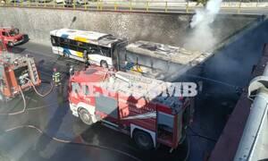 Φωτιά σε λεωφορείο του ΟΑΣΑ