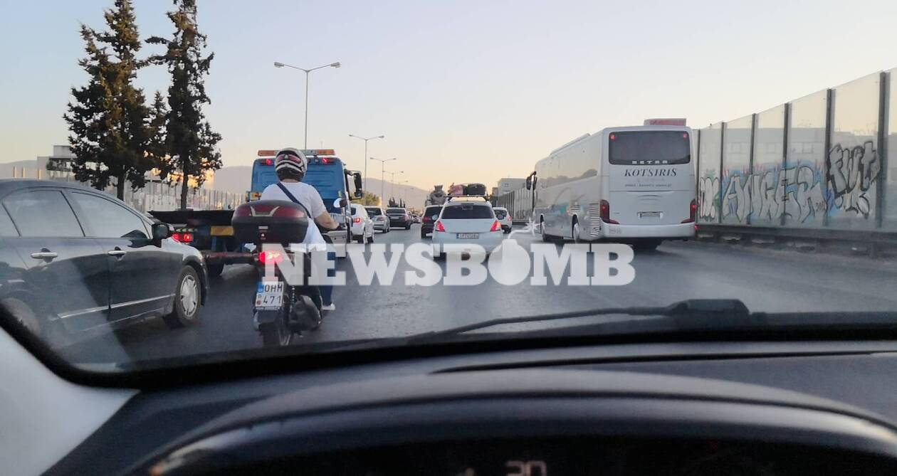 Χάος στην Εθνική Οδό - Μεγάλη ταλαιπωρία για τους οδηγούς
