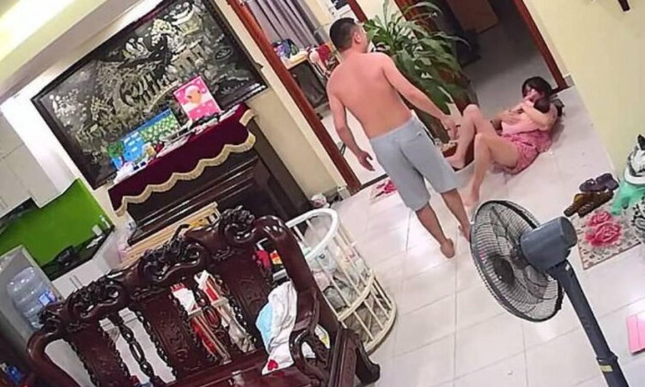 Αδιανόητο: Έδειρε τη σύζυγό του επειδή άλλαξε θέση την τηλεόραση (σκληρές εικόνες)