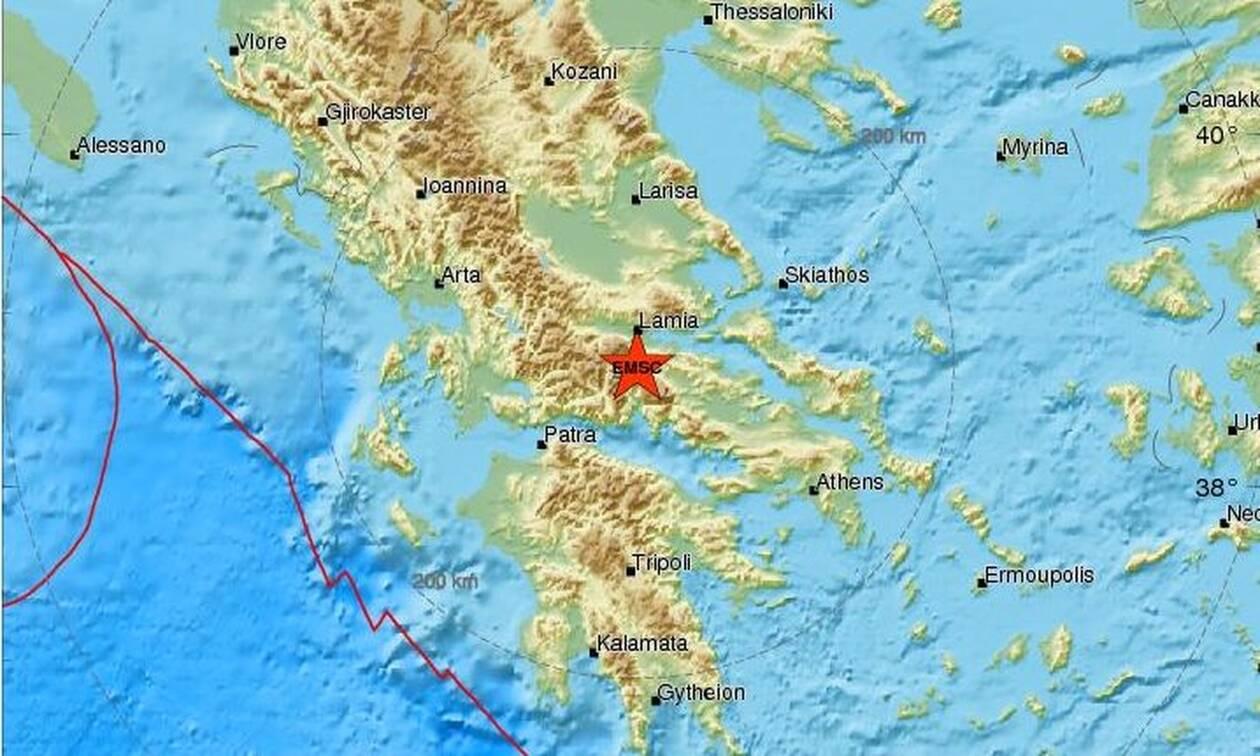 Σεισμός μεταξύ Αμφίκλειας και Λαμίας